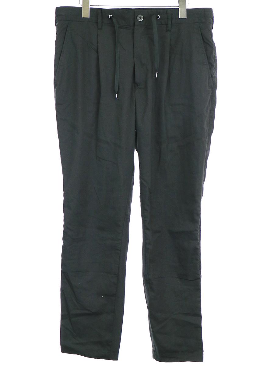 【中古】junhashimoto ジュンハシモト 17SS EASY TUCK PANTS AIR LINEN イージートラックパンツ ブラック 4 メンズ