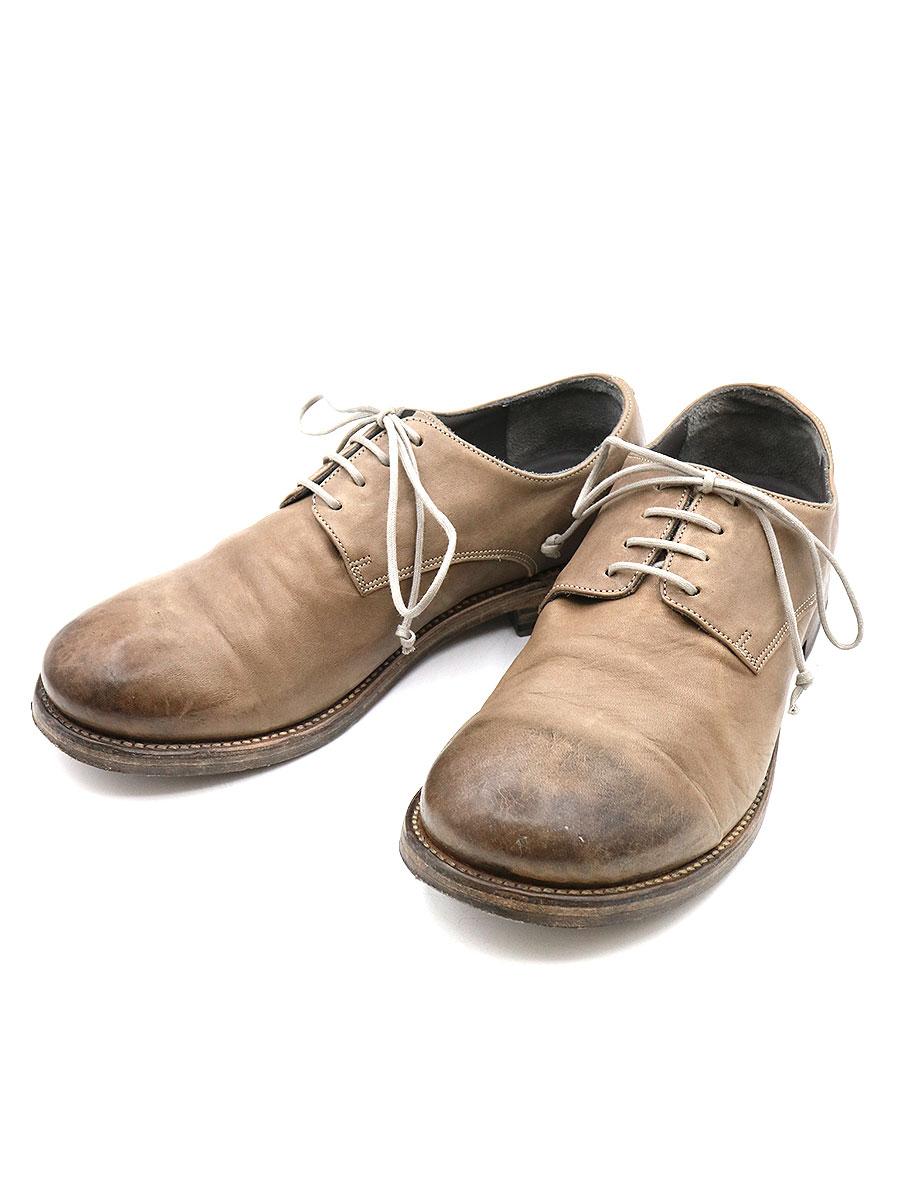 【中古】the last conspiracy×ISAAC SELLAM ザラストコンスピラシー×アイザックセラム FABRICE DERBY SHOES ホースレザーシューズ 短靴 ベージュ 43(26.5cm程度) メンズ