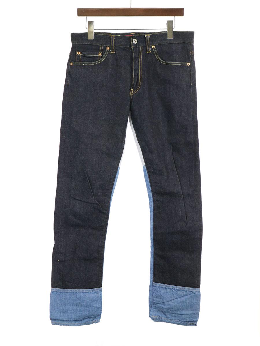 【中古】JUNYA WATANABE COMME des GARCONS MAN ジュンヤワタナベ コムデギャルソンマン ×Levi's 13ss 解体再構築 511デニムパンツ インディゴ M メンズ