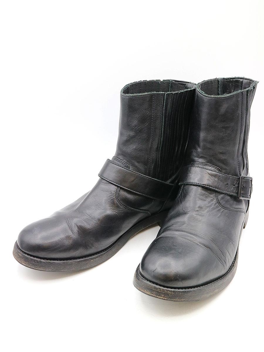 【中古】BURBERRY PRORSUM バーバリープローサム サイドゴアベルデッドぺコスブーツ ブラック 43(28cm程度) メンズ