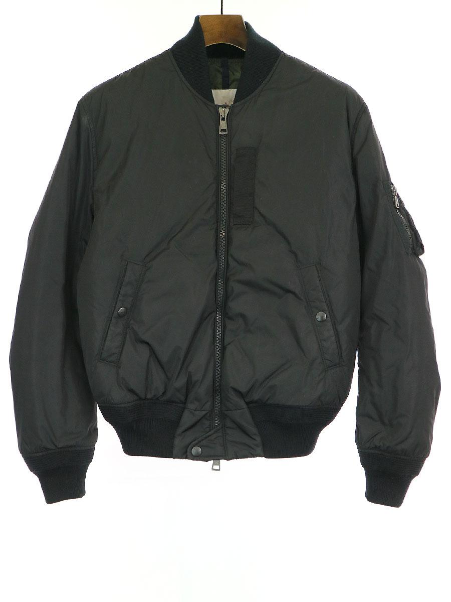 【中古】MONCLER モンクレール ALLIX MA-1 ダウン ボンバージャケット ブラック 0 メンズ