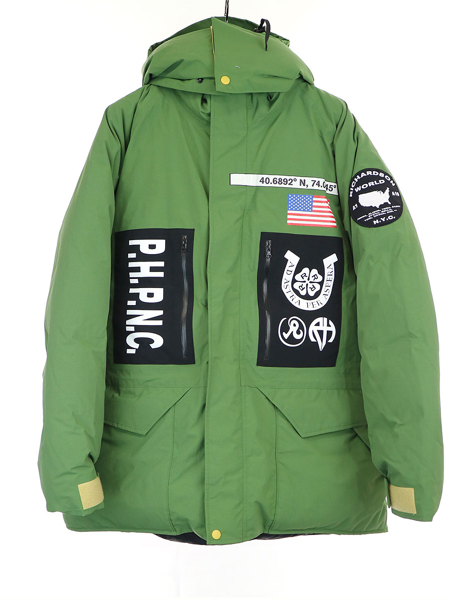 【中古】Richardson リチャードソン 19AW Embellished Down Jacket ダウンジャケット カーキ L メンズ