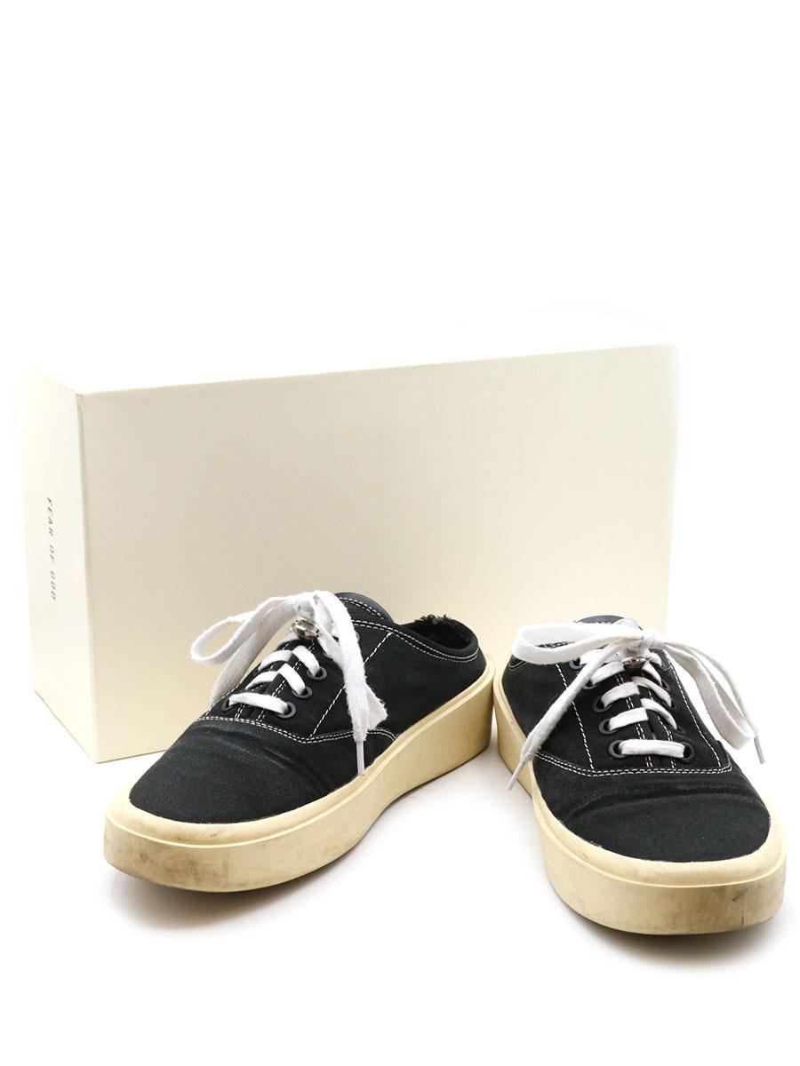 【中古】FEAR OF GOD フィアオブゴッド 101 backless sneaker バックレススニーカー ブラック 40(25-25.5cm程度) メンズ