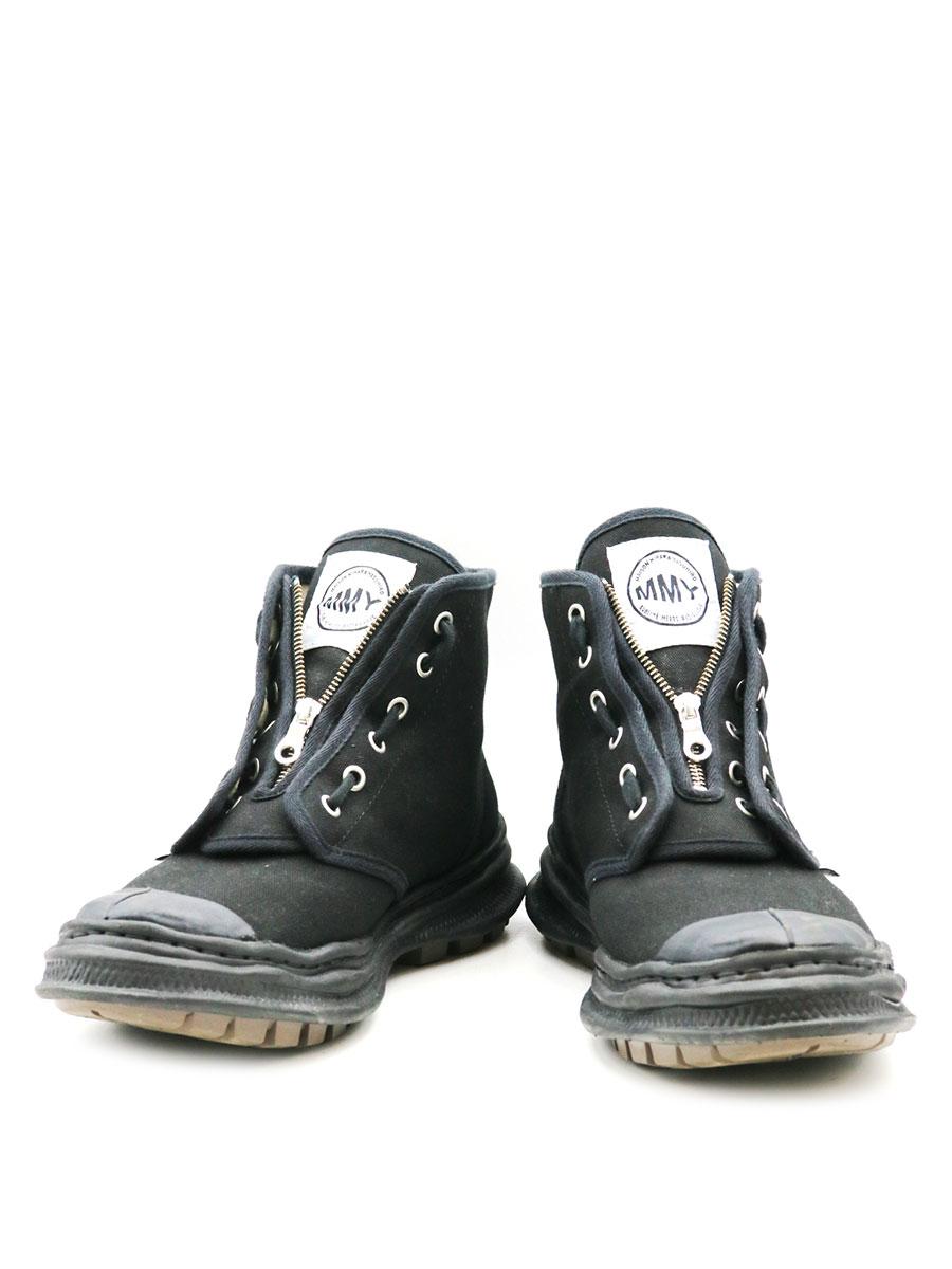 【中古】Maison MIHARA YASUHIRO メゾン ミハラヤスヒロ original sole military boots A03FW709 センタージップミリタリーブーツ ブラック 44(29cm程度) メンズ