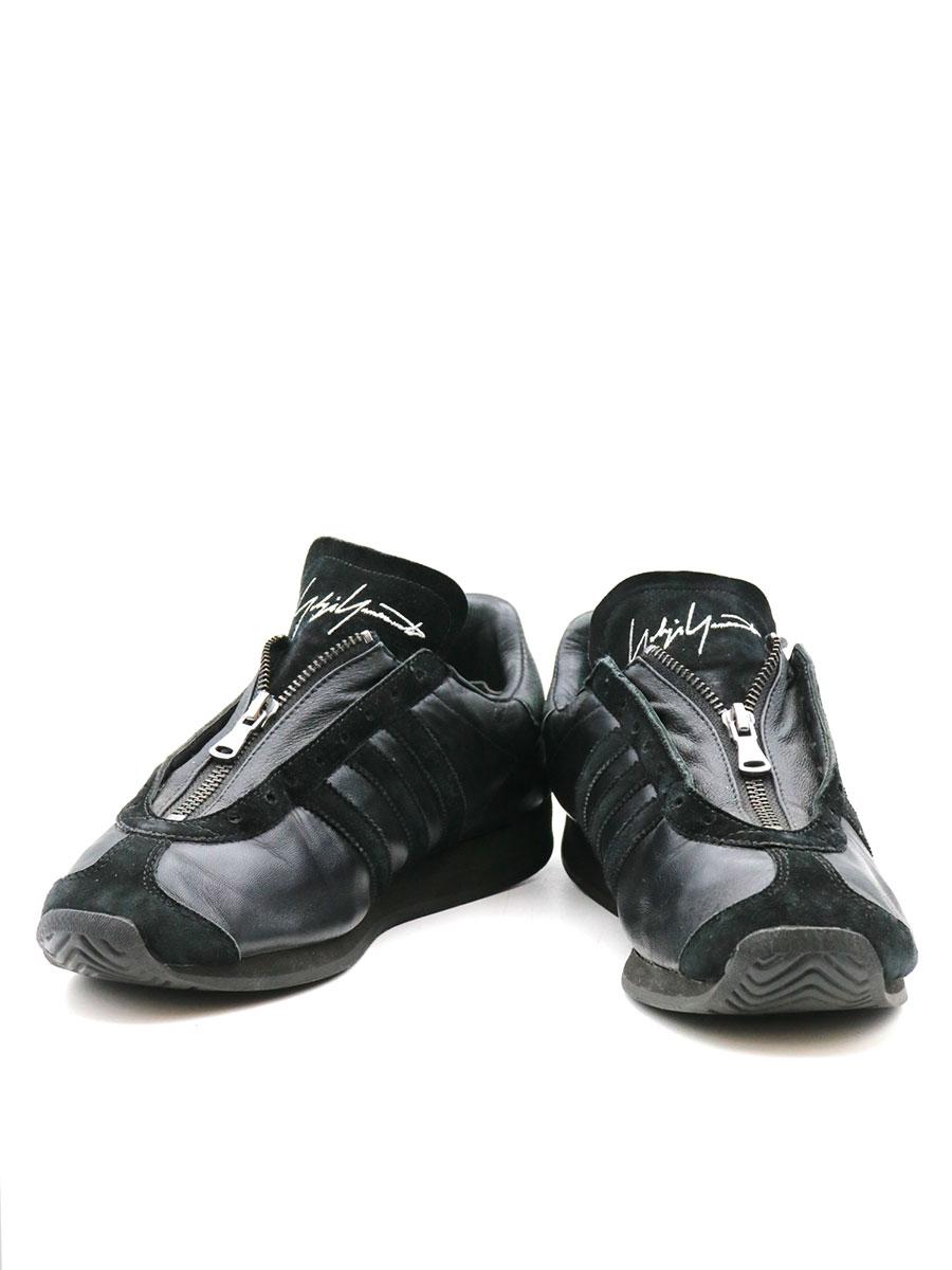 【中古】Yohji Yamamoto ヨウジヤマモト x adidas アディダス 16SS YY COUNTRY ZIP スニーカー ブラック 26cm メンズ