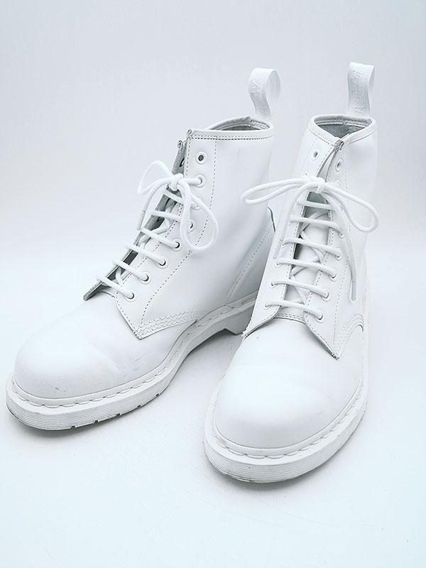 【中古】Dr.Martens ドクターマーチン 1460 MONO 8ホールレザーブーツ ホワイト 9(28程度) メンズ