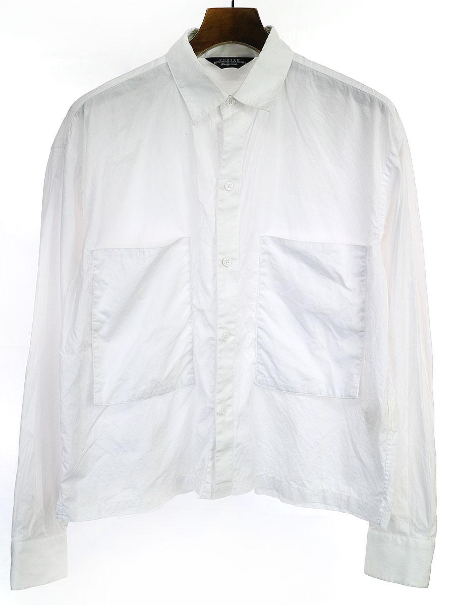 【中古】UNUSED アンユーズド 19SS POCKET SHIRT ホワイト 1 メンズ