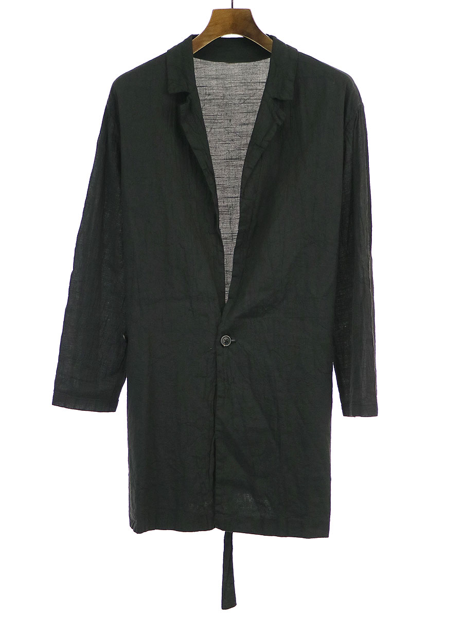 【中古】GEOFFREY B.SMALL ジェフリービースモール 19SS OYJ12 Special OYJ12 handmade 1-button crop length leisure kimono jacket キモノジャケット ブラック M/L メンズ