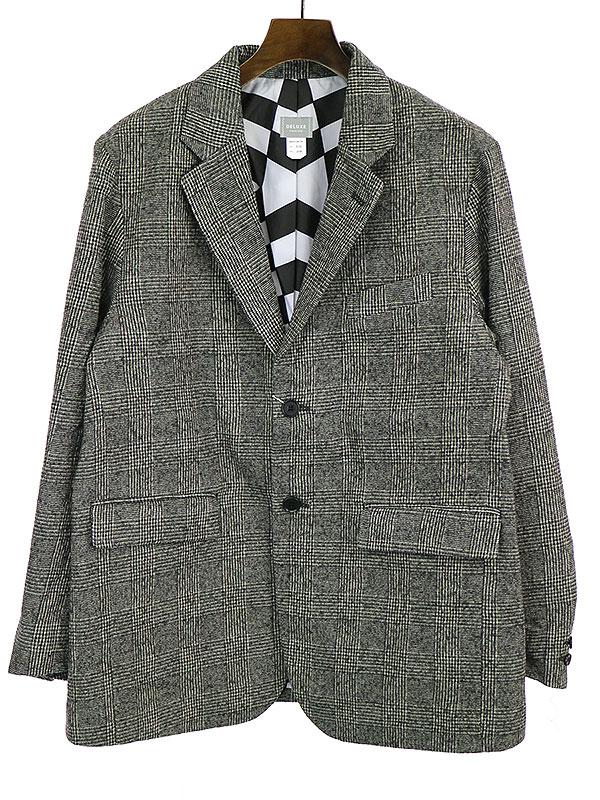 【中古】Deluxe Clothing デラックス クロージング 19AW NEW WAVE グレンチェックテーラードジャケット グレー M メンズ