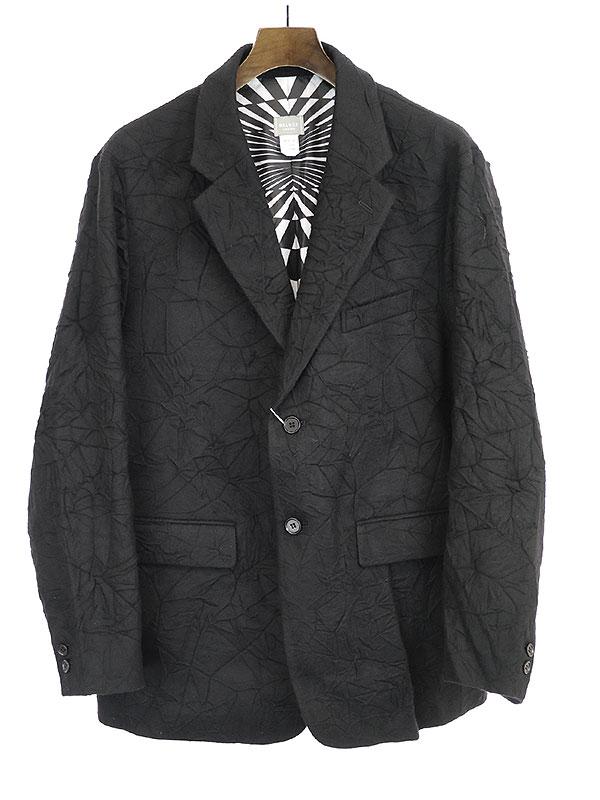 【中古】Deluxe Clothing デラックス クロージング 19AW NEW WAVE 圧縮ウールテーラードジャケット ブラック L メンズ