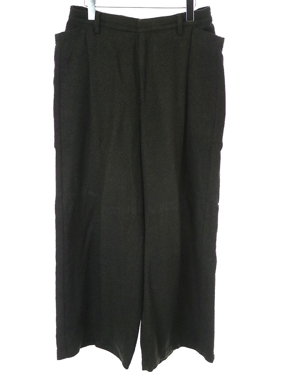 【中古】Edwina Horl エドウィナホール 16SS ドロップポケットスーパーワイドパンツ ブラック S メンズ