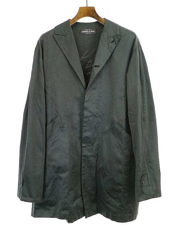 【中古】GEOFFREY B.SMALL ジェフリービースモール 17SS RSC01N 4-button peak-lapel A-line coat 4つボタンピークドラペルAラインコート グレー F メンズ