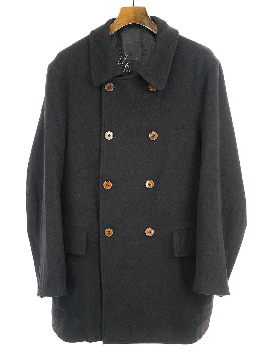 【中古】GEOFFREY B.SMALL ジェフリービースモール 17AW SEC03 Double-breasted Coat カシミアダブルブレストコート ブラック XS メンズ
