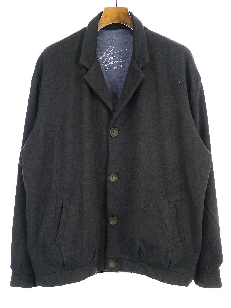【中古】GEOFFREY B.SMALL ジェフリービースモール 19AW DOJ23 1920's Tailored Blouson Jacket テーラードブルゾン ブラック S メンズ