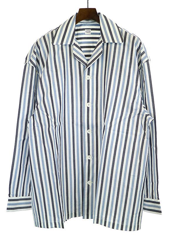 【中古】E.Tautz イートウツ 19SS PYJAMA SHIRT パジャマシャツ ブルー M メンズ