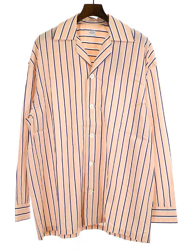 【中古】E.Tautz イートウツ 19SS PYJAMA SHIRT パジャマシャツ ピンク M メンズ