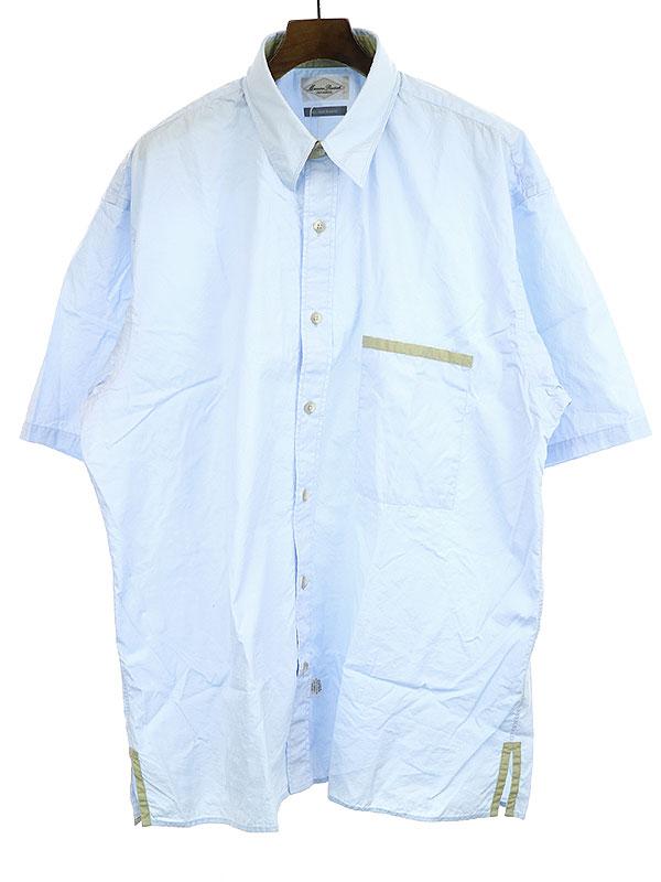 【中古】Marvine Pontiak マービンポンティアック Regular Collar 3 Button SH ブルー F メンズ