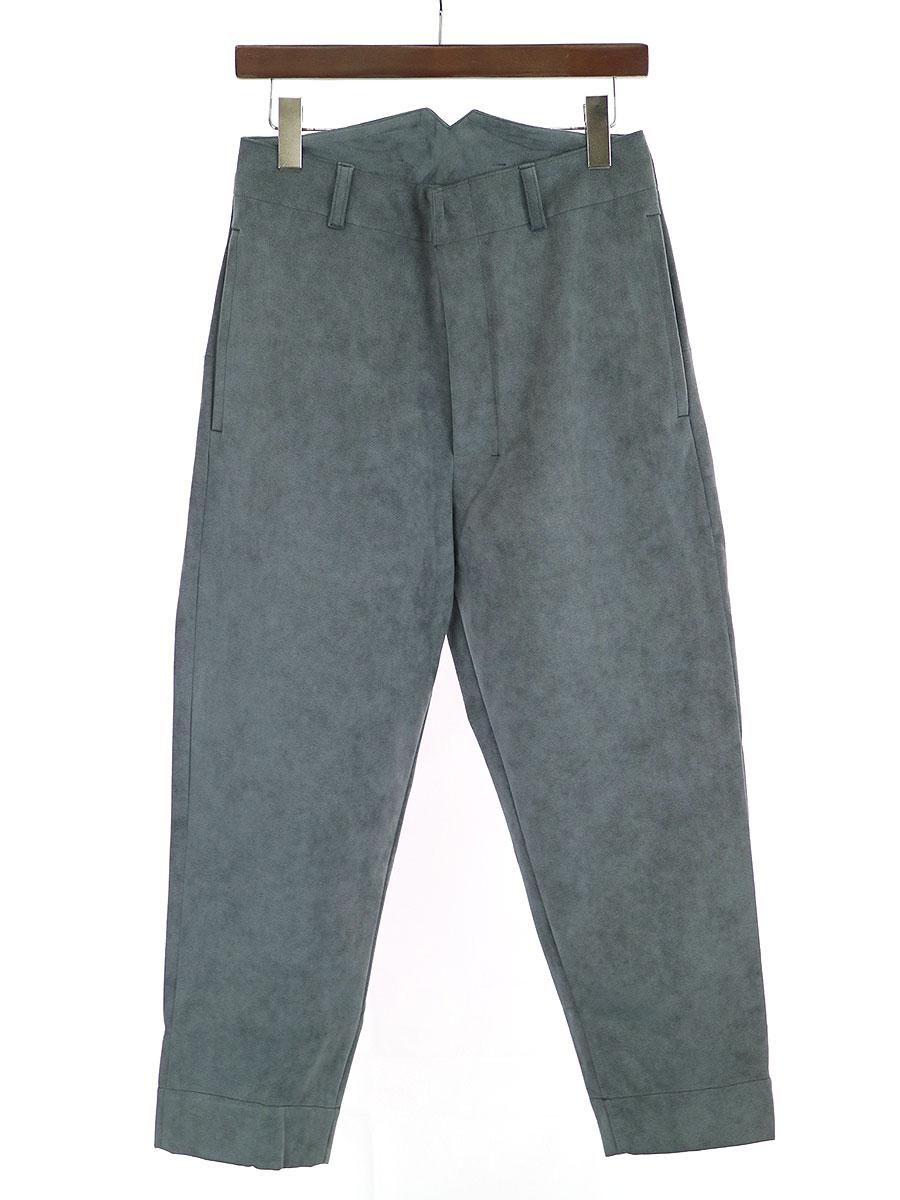 【中古】SHINYA KOZUKA シンヤコズカ Work Trousers ベロアトラウザーパンツ グレー S メンズ