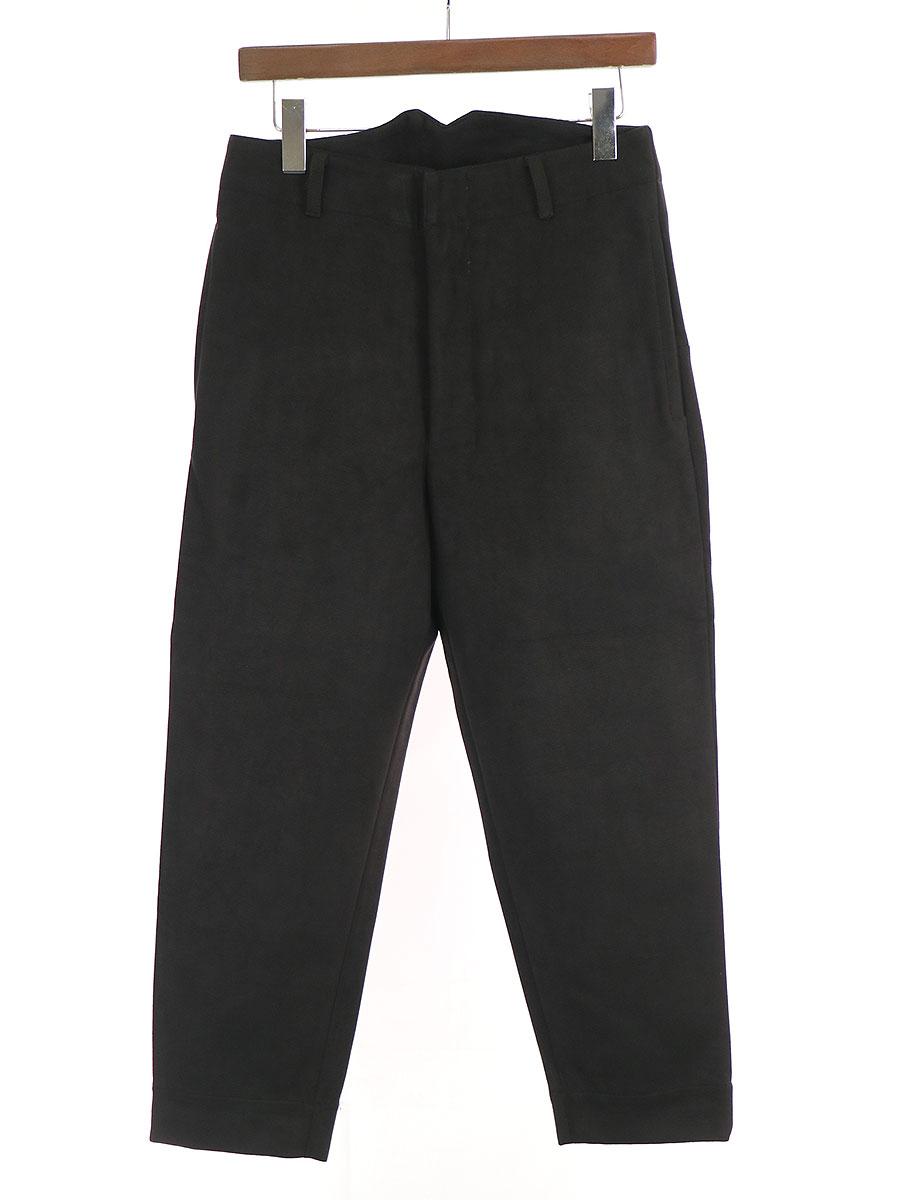 【中古】SHINYA KOZUKA シンヤコズカ Work Trousers ベロアトラウザーパンツ ブラック S メンズ