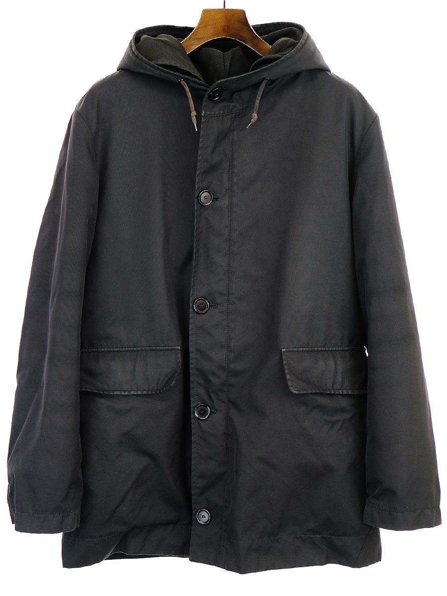【中古】HELMUT LANG ヘルムート ラング 本人期 3WAY Hooded Coat インナー付きモッズコート ブラック 46 メンズ