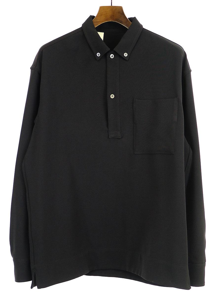 【中古】N.HOOLYWOOD エヌハリウッド プルオーバーロングスリーブシャツ ブラック 40 メンズ