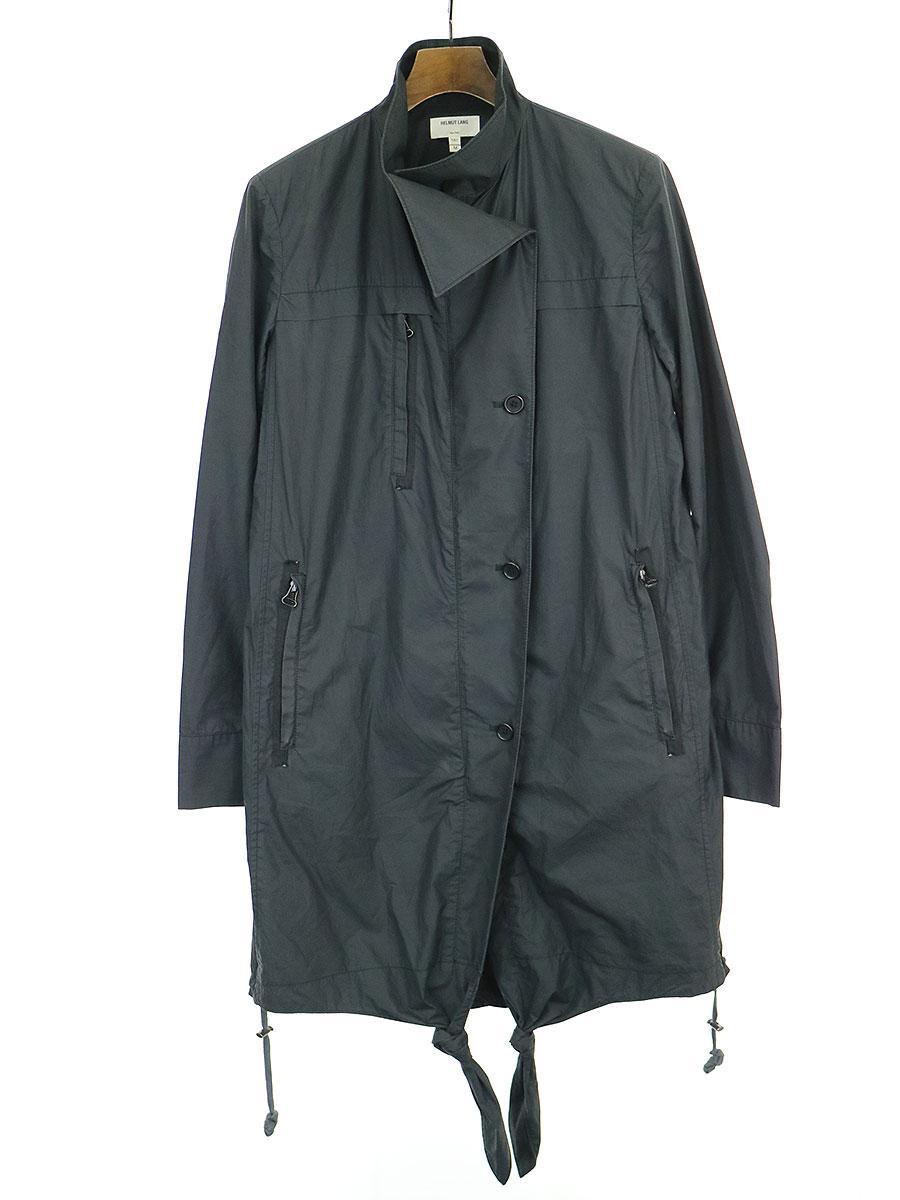 【中古】HELMUT LANG ヘルムート ラング コットンカラーデザインコート ブラック M メンズ