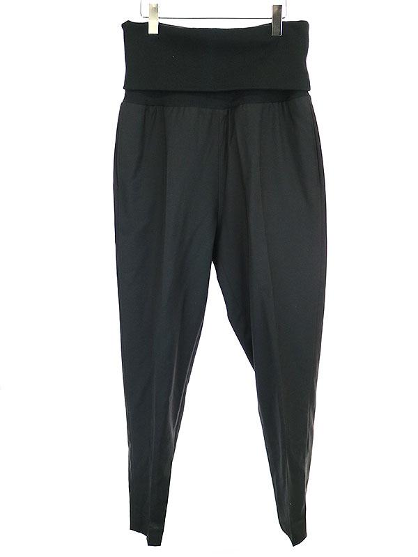 【中古】Dior HOMME ディオールオム 11SS ランウェイ着 ウエストリブスラックスパンツ ブラック 44 メンズ