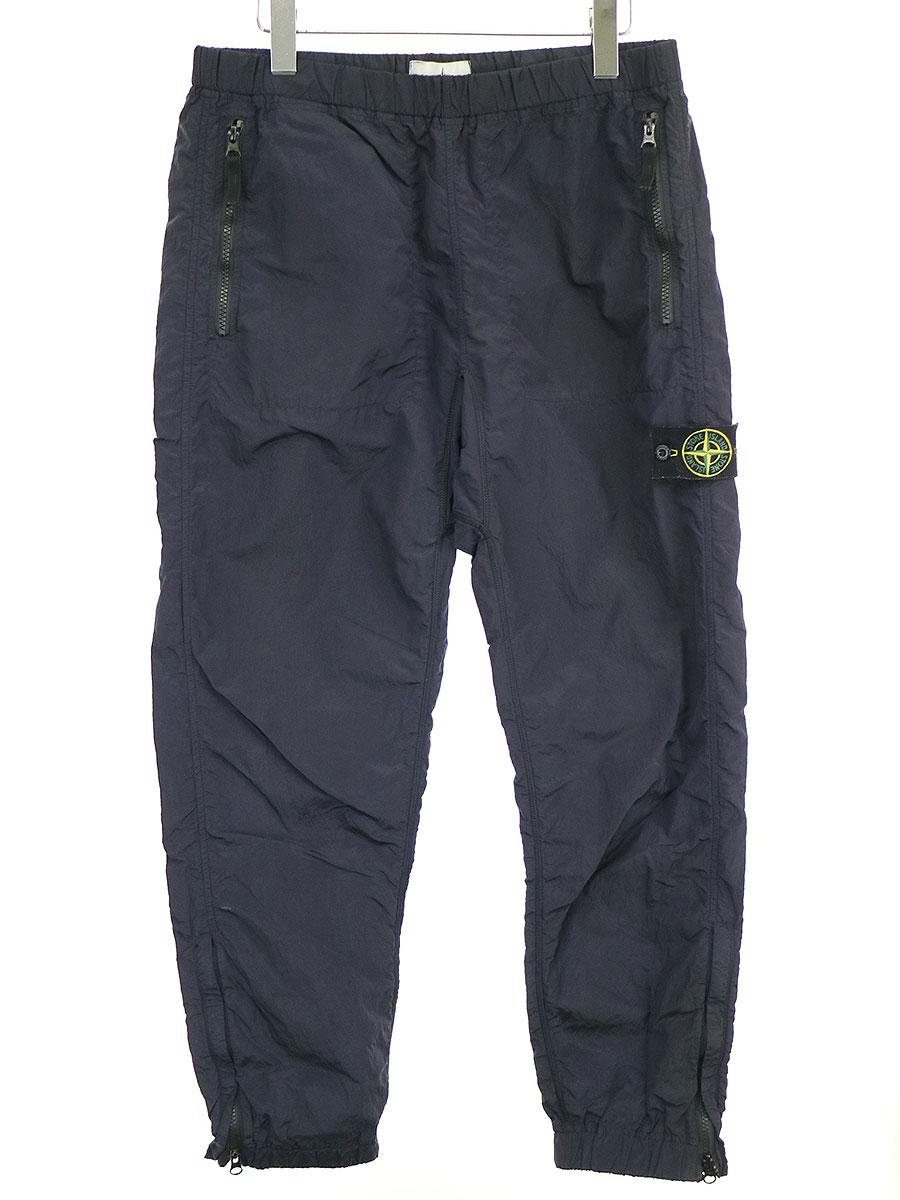 【中古】STONE ISLAND ストーンアイランド NYLON METAL PANTS ナイロンメタルトラックパンツ ネイビー M メンズ
