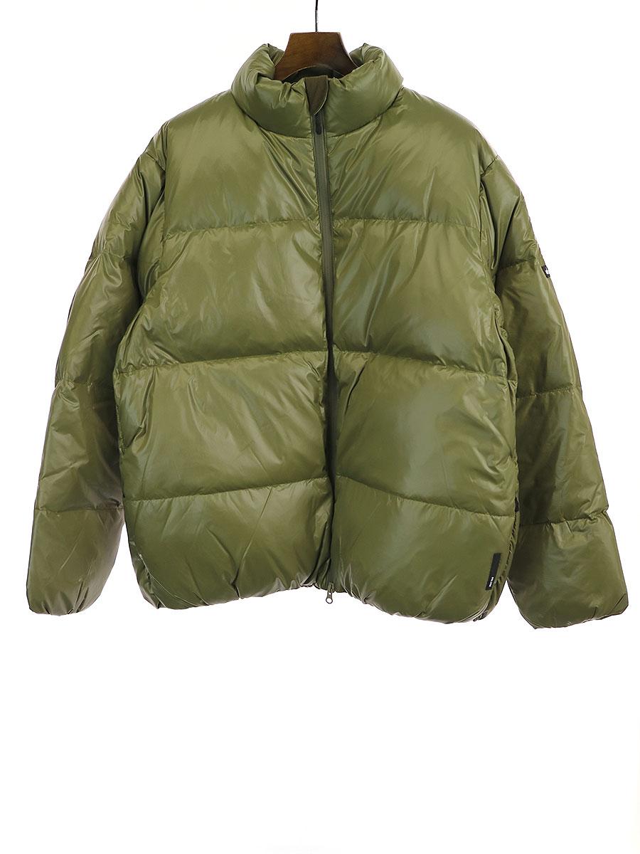 【中古】Deluxe Clothing デラックス クロージング ×WILD THINGS ワイルドシングス 19AW DOWN ナイロンダウンジャケット カーキ M メンズ