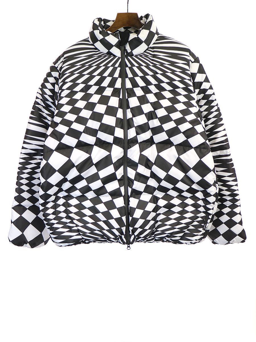 【中古】Deluxe Clothing デラックス クロージング ×WILD THINGS ワイルドシングス 19AW DOWN ナイロンダウンジャケット ブラック×ホワイト L メンズ
