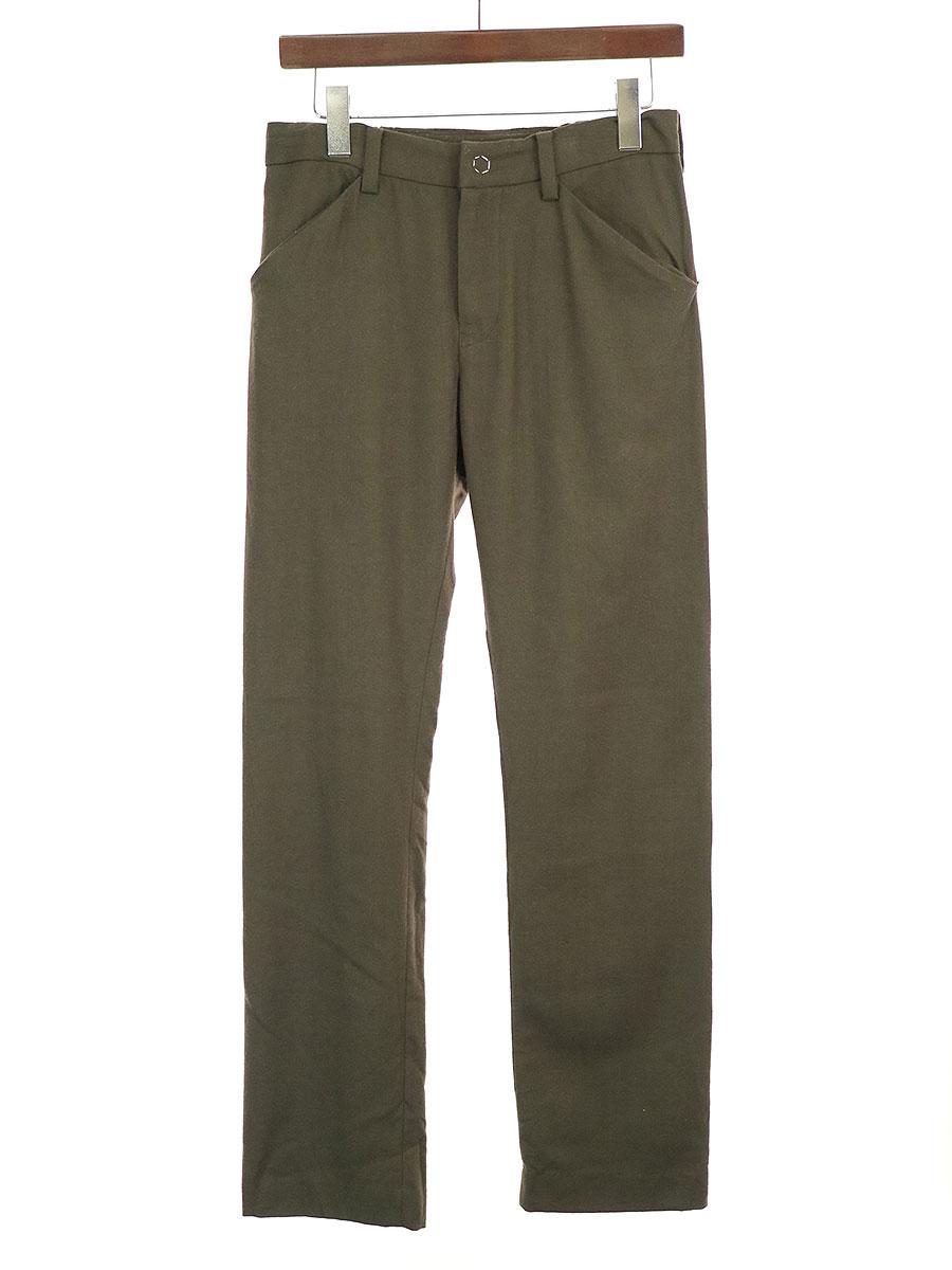 【中古】SUNSEA サンシー 18AW N.M Brushed Straight Pants ナイスマテリアルストレートパンツ カーキ 2 メンズ