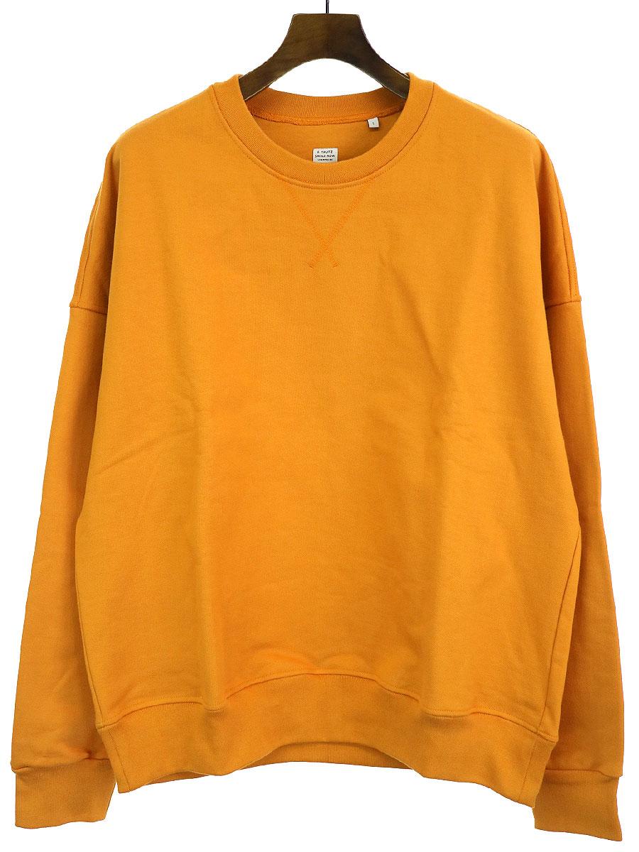 【中古】E.Tautz イートウツ 20SS plane sweat shirt オーバーサイズスウェット オレンジ S メンズ