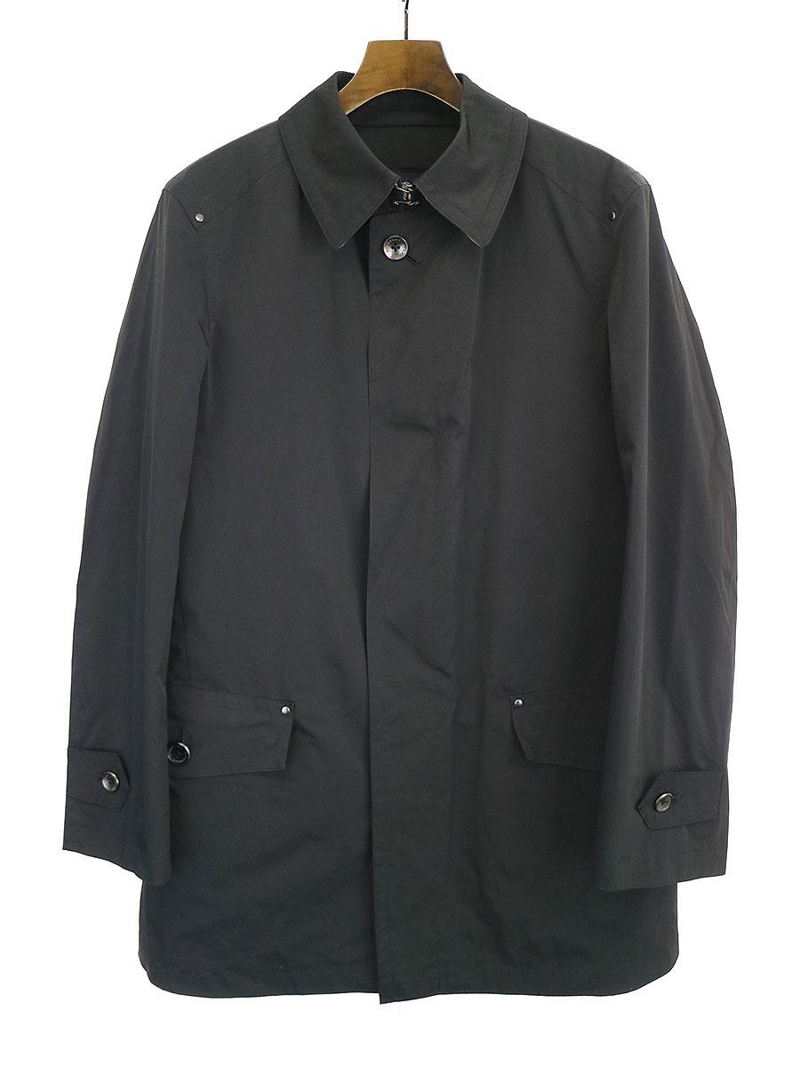 【中古】BURBERRY LONDON バーバリーロンドン ノヴァチェックライナー付きステンカラーコート ブラック M メンズ