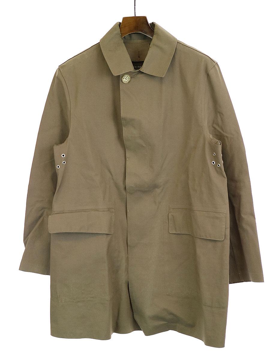 【中古】MACKINTOSH マッキントッシュ ステンカラーショートコート ブラウン 38 メンズ