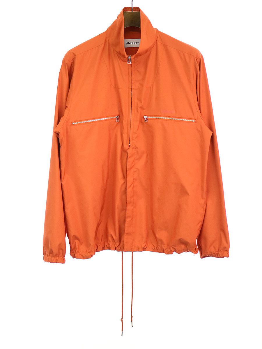 【中古】AMBUSH アンブッシュ ZIP UP SHIRT ハーフジップシャツジャケット オレンジ 2 メンズ