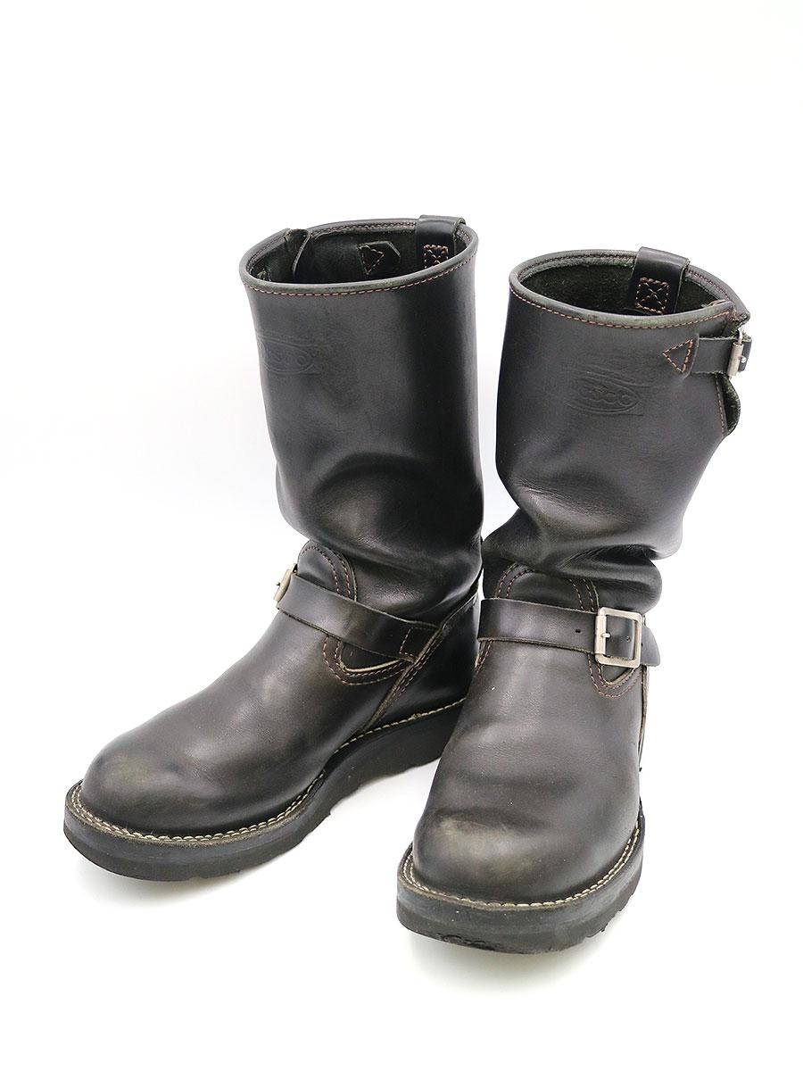 【中古】WESCO ウエスコ BOSS エンジニアブーツ ブラック 7 1/2(25cm~25.5cm程度) メンズ