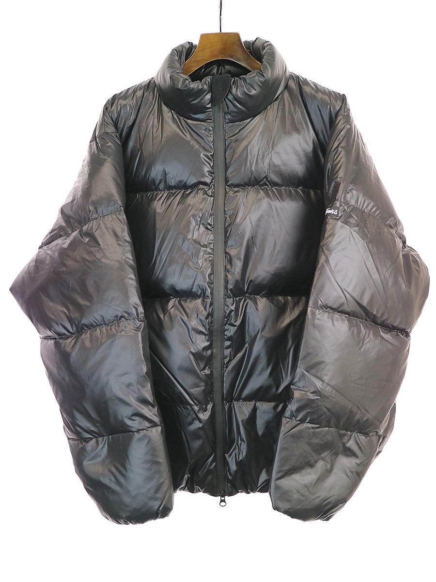 【中古】Deluxe Clothing×WILD THINGS デラックス クロージング×ワイルドシングス 19AW DOWN ナイロンダウンジャケット ブラック L メンズ