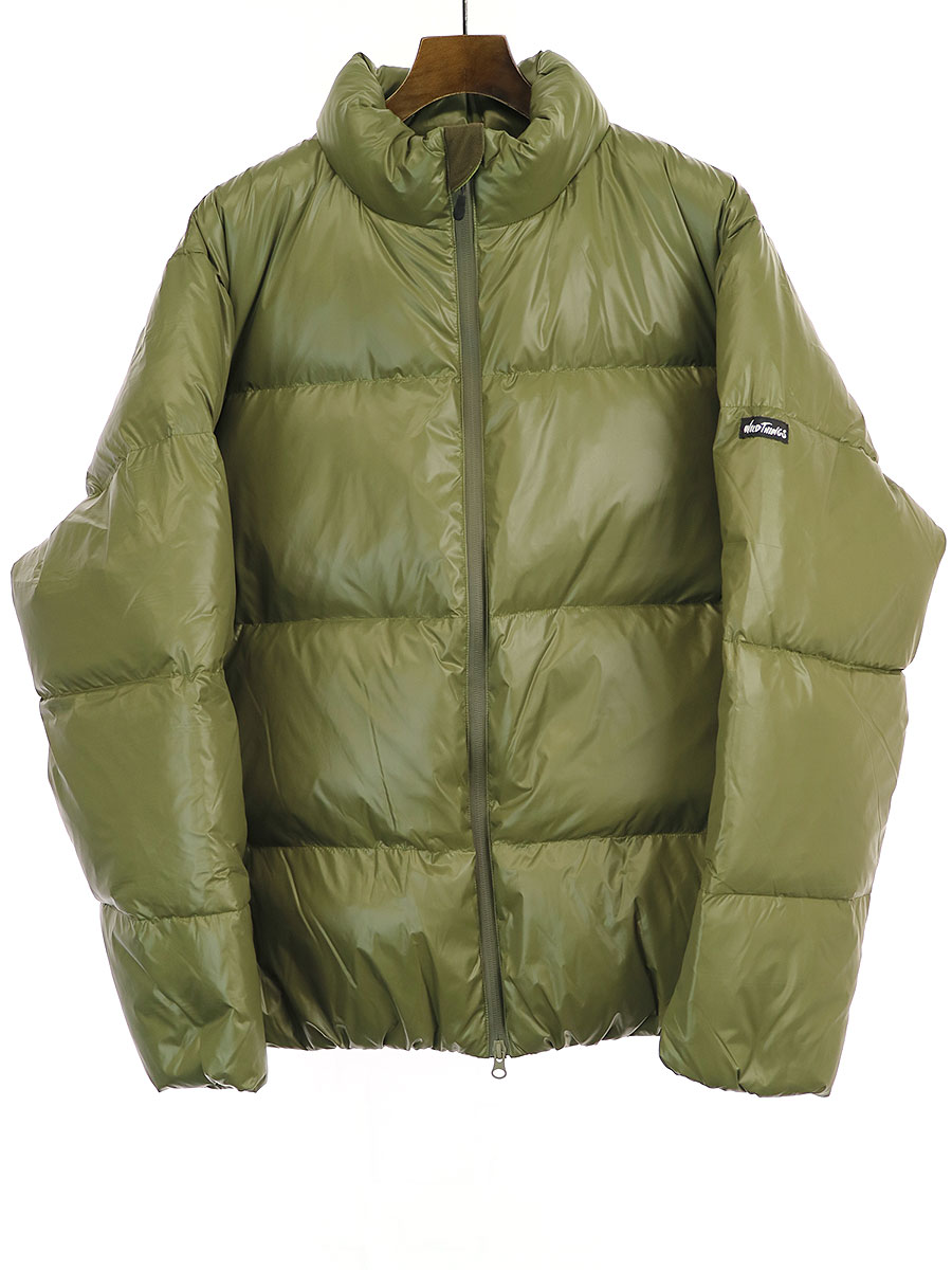 【中古】Deluxe Clothing×WILD THINGS デラックス クロージング×ワイルドシングス 19AW DOWN ナイロンダウンジャケット カーキ L メンズ