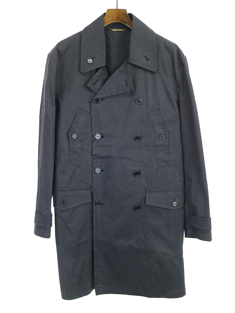 【中古】DOLCE&GABBANA ドルチェ&ガッバーナ 07SS マルチポケットトレンチコート ブラック 48 メンズ