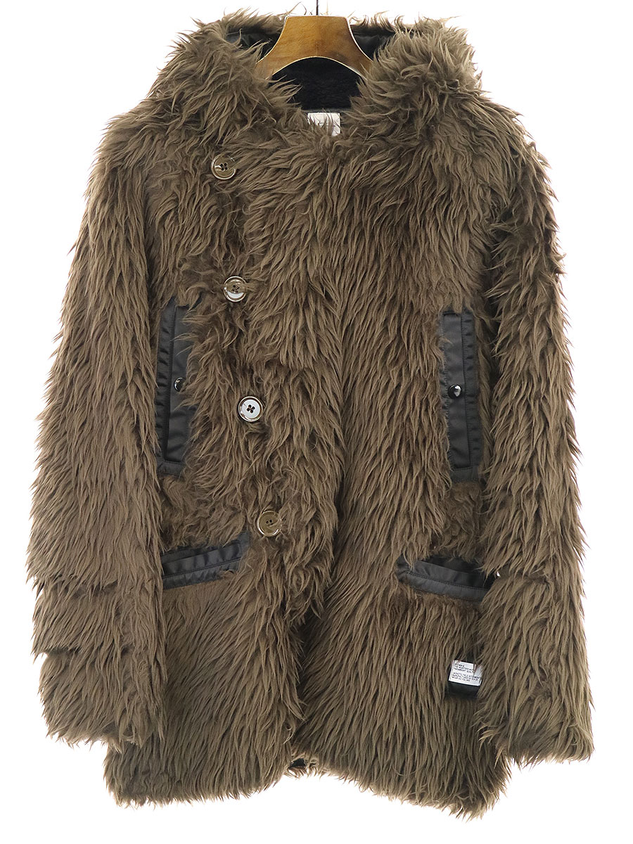 【中古】BEDWIN ベドウィン 18AW TYPE N3B FAKE FUR COAT