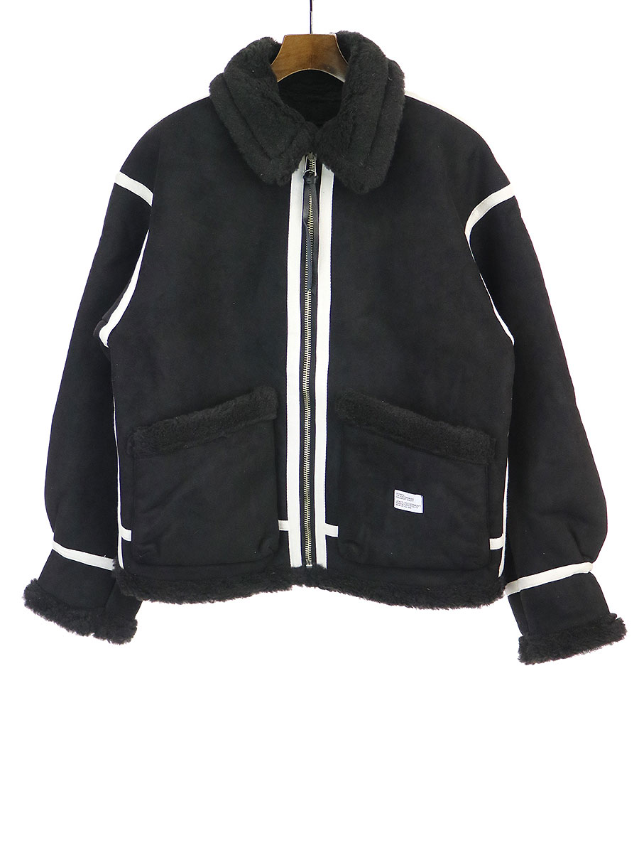 【中古】BEDWIN ベドウィン 19AW TYPE B3 FAKE MOUTON JACKET