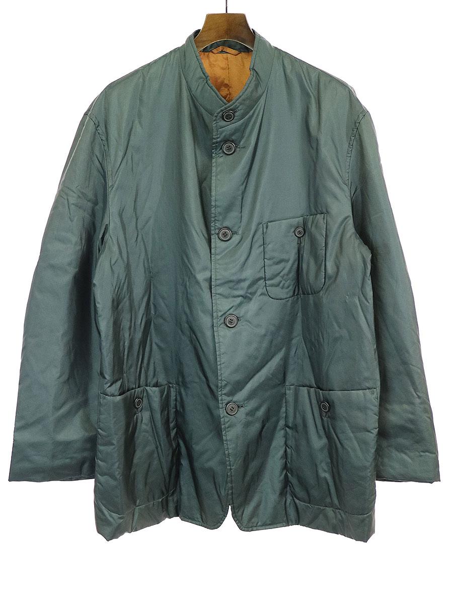 【中古】ISSEY MIYAKE イッセイミヤケ 94AW リップストップナイロンスタンドカラージャケット グリーン L メンズ