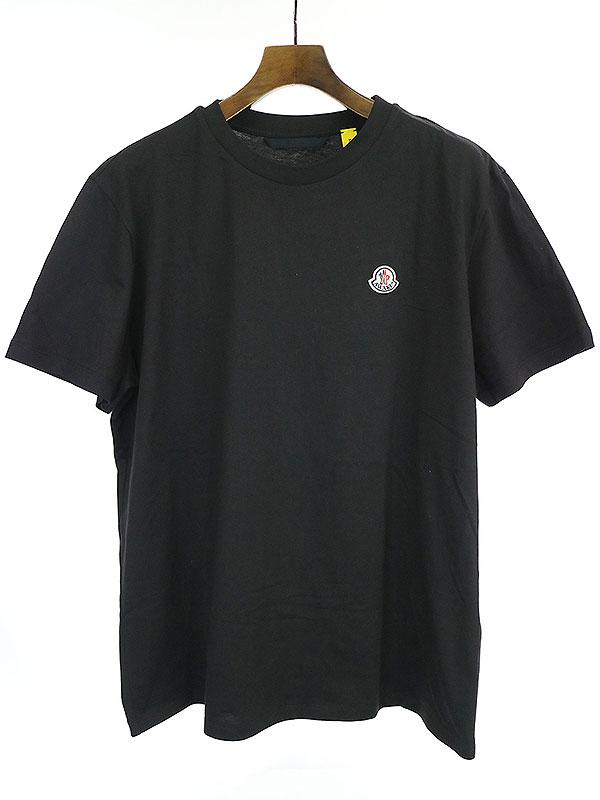 【中古】2 Moncler 1952×AWAKE 2 モンクレール 1952×アウェイク NY 20SS MAGLIA T-SHIRT ロゴワッペンクルーネックTシャツ ブラック 2 メンズ