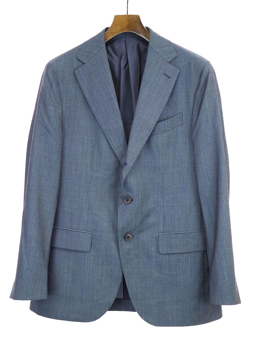 【中古】CARUSO カルーゾ aida ウールセットアップスーツ ネイビー 50 メンズ
