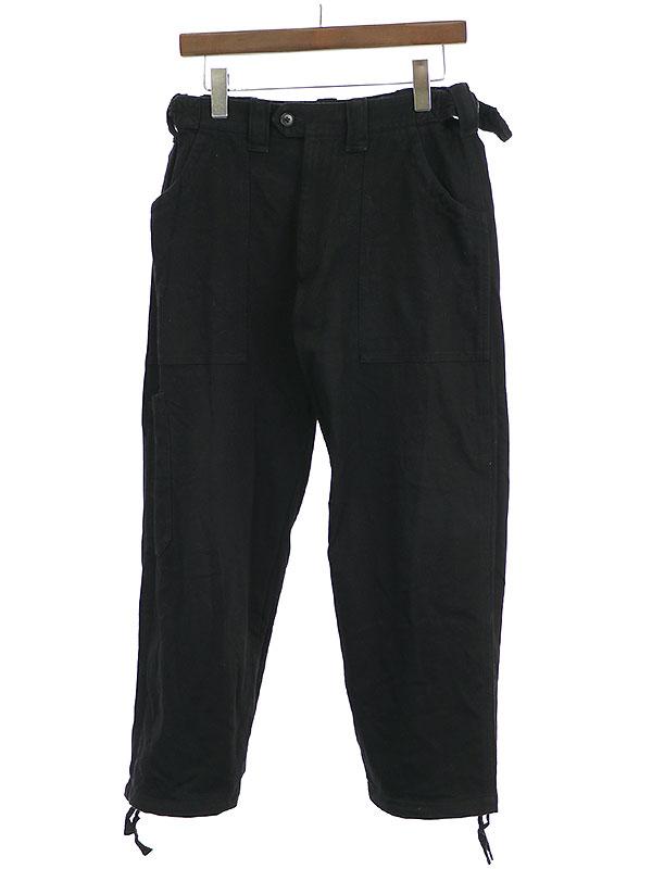 【中古】Y's for men ワイズフォーメン RED LABEL 01SS コットンジャージーワイドパンツ ブラック 2 メンズ