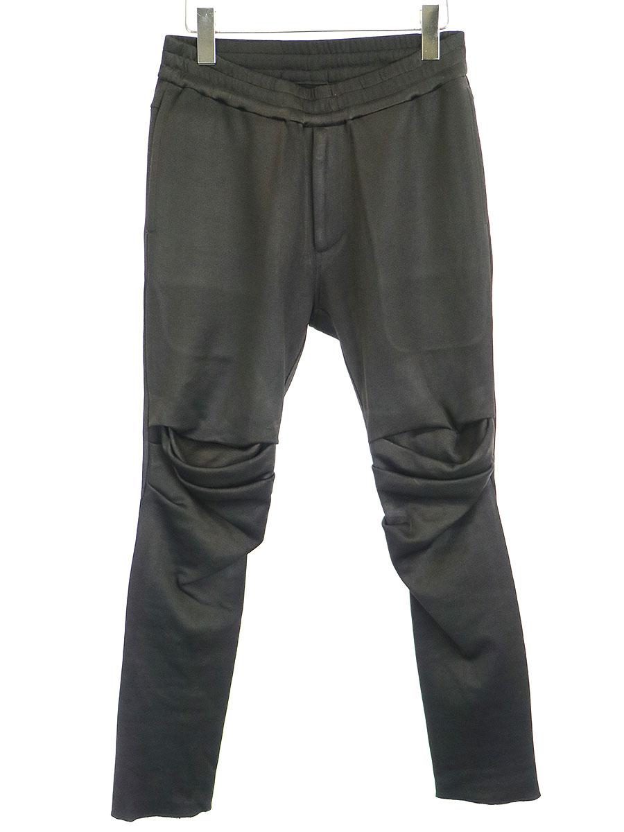 【中古】JULIUS ユリウス 15AW GORDINI別注 Arced Easy Pants イージーパンツ ブラック 1 メンズ