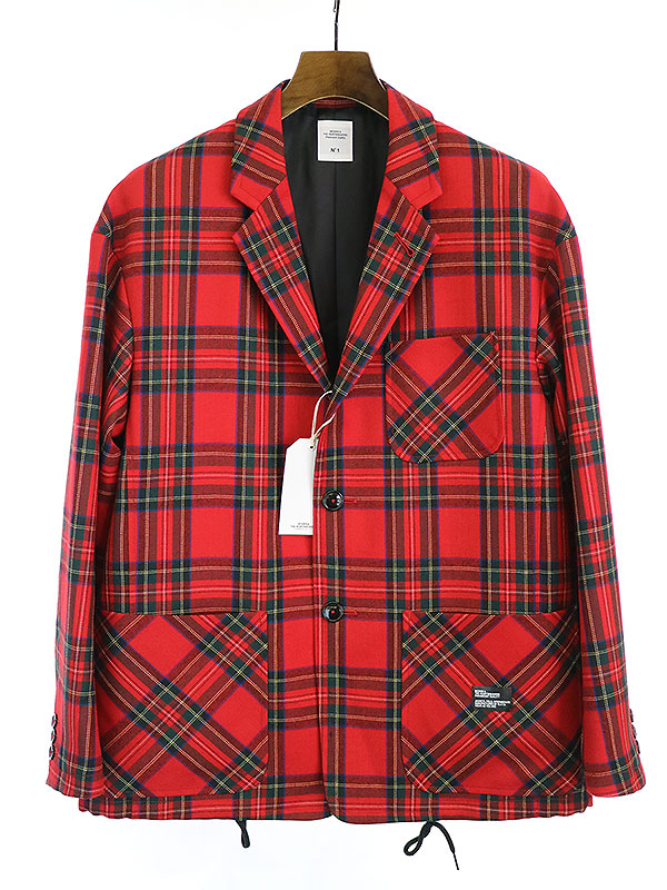 【中古】BEDWIN ベドウィン 19AW 4B WOOL FLANNEL TAYLOR JACKET