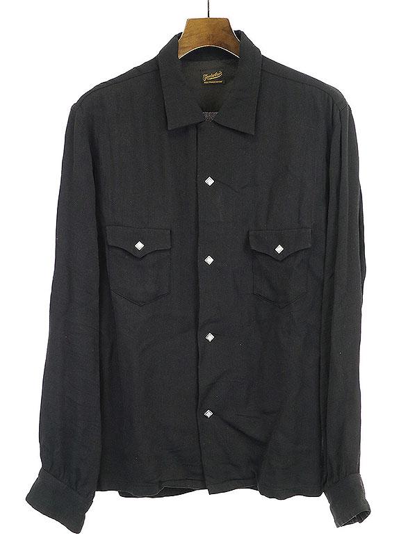 【中古】TENDERLOIN テンダーロイン レーヨンシャツ ブラック XS メンズ