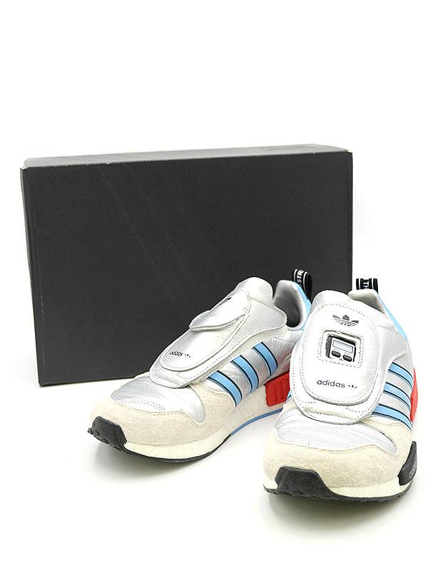 【中古】adidas アディダス MICROPAPER R1 NMD G26778 マイクロペーサースニーカー シルバー 27.5cm メンズ