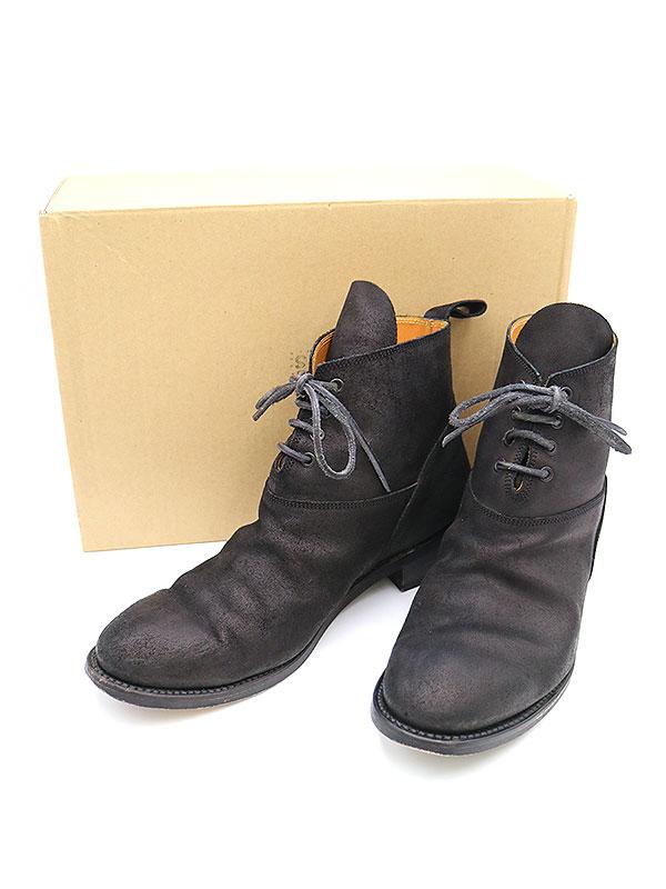 【中古】SUNSEA サンシー 16SS 3way suede boots カウスエードレザーブーツ ブラック 3 メンズ